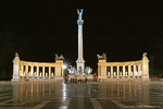 The Millennium Monument at Heroes Square in Budapest, Hungary