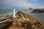 Castlepoint lighthouse, New Zealand