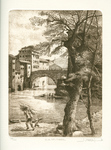 Tiber Island - Rome (Etching and Burin engraving)