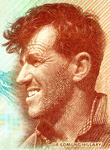 New Zealand Explorer Sir Edmund Hillary (Intaglio engraving on steel)