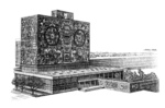 National autonoumos university of Mexico (Etching and buring on steel)