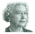 Queen Elizabeth II (Intaglio engraving on steel)