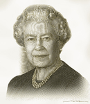 Queen Elizabeth II (Digital engraving)