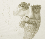 Sir Sandford fleming (Intaglio engraving on steel)