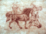 Horses (Sanguinia on amate paper)