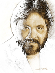 Intaglio engraver Jorge Peral self-portrait