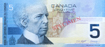 Canadian Five-dollar Note (Canadian Journey Series)