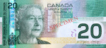 Canadian Twenty-dollar note (The 2004 $20 Note was awarded Bank Note of the Year by the International Society in 2005)