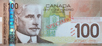 Canadian One hundred-dollar Note (Canadian Journey Series)