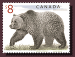 $8 Grizzly Bear postage stamp